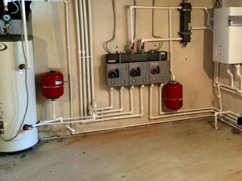 установка котла газового